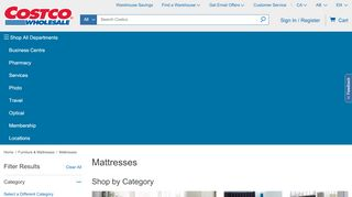 Costco Mattress Online